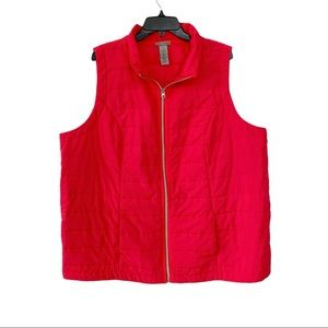 Catherine's Pink Sleeveless Quilted Puffer Vest
